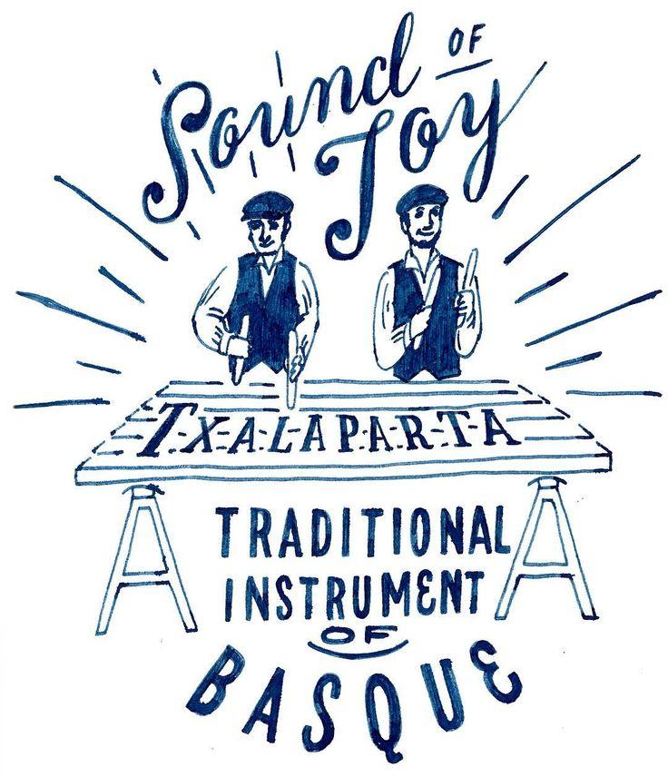 """HARD CIDREのキャンペーンサイト """"CIDRE WALL""""のイラスト デザイン解説その4 Sound of joy! チャラパルタというシードルの樽が由来の楽器、これはマニアックすぎるので楽器自体を描かないと訳わからんだろうという事で、もはや他の選択肢ナシ。 #chalkboy #handwritten #graphic #オトナのリンゴ"""