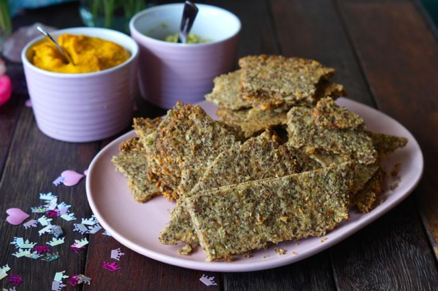 Yes! These healthy paleo crackers literally taste like Paleo Vita-Wheats! A MUST MUST TRY! Yum!
