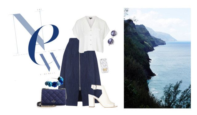 sea by evelineblog on Polyvore featuring moda, Topshop, Whistles, Prada, Kate Spade, MICHAEL Michael Kors and LOTTA