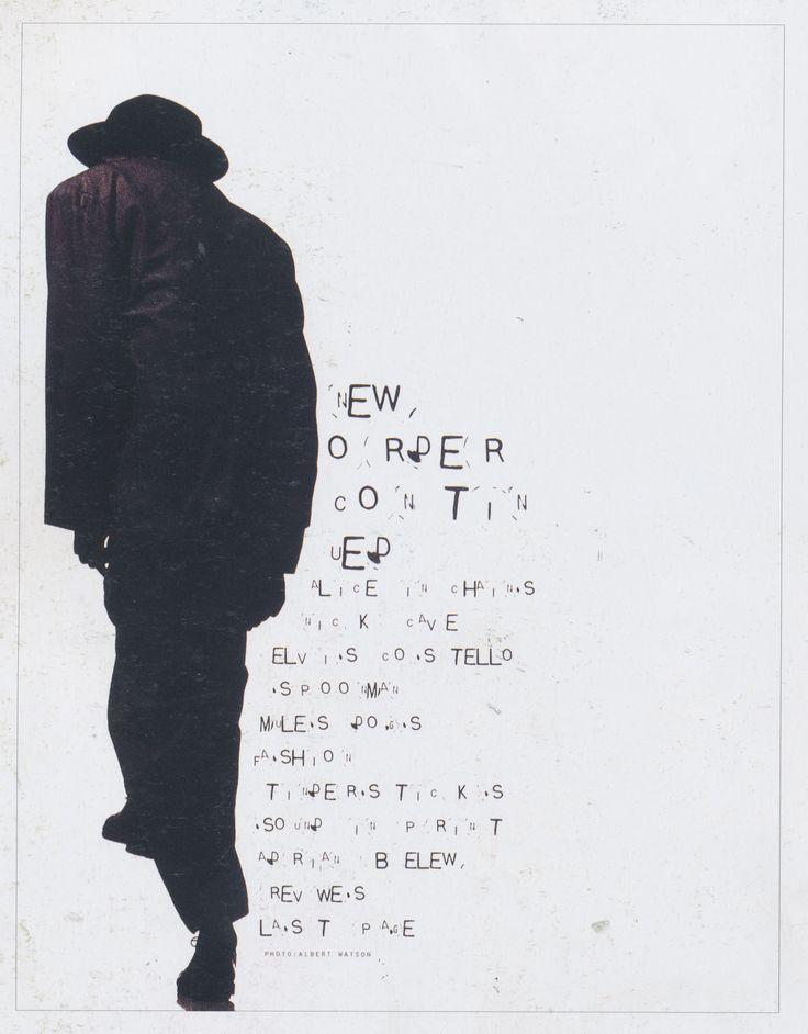 David Carson (designer), Ray Gun issue16 contents page, 1994