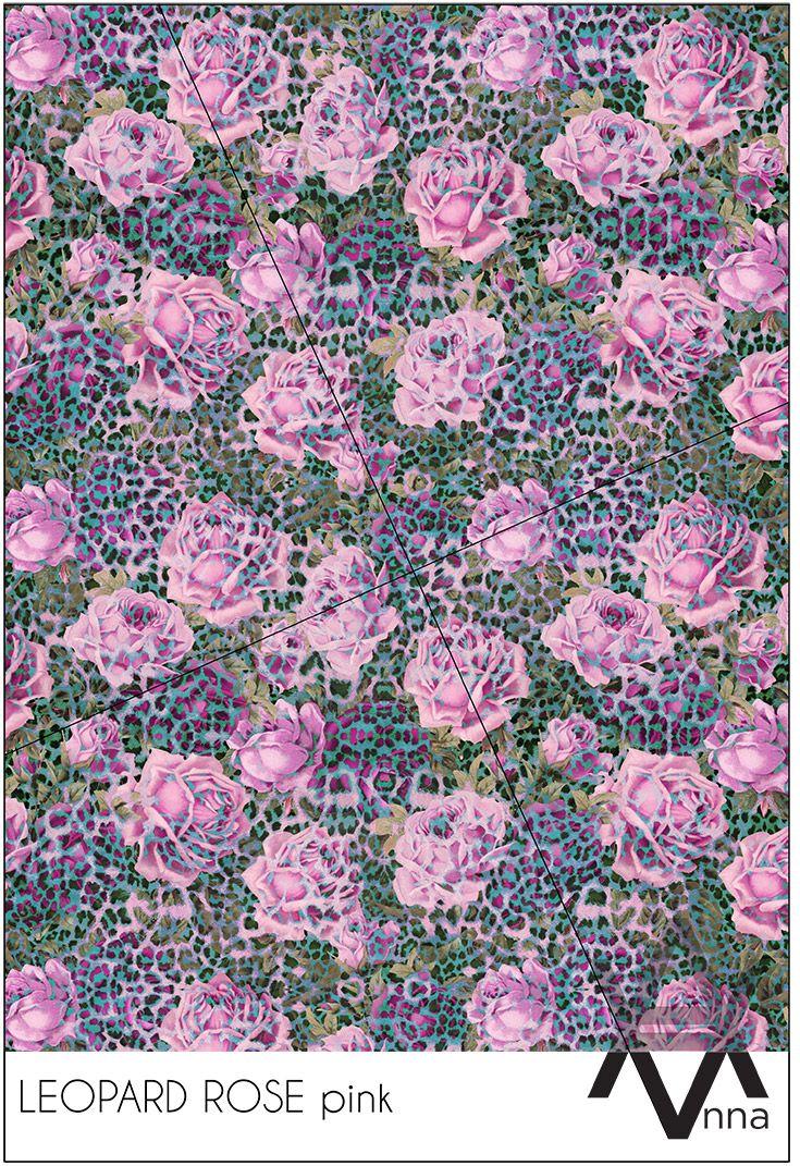 LEOPARD ROSE pink