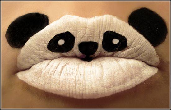 Funky Panda lips.: Hot Lips, Pandas Lips, Pucker Up, Pandas Bears, Lips Makeup, Lipsticks Art, Kis, Lips Art, Animal