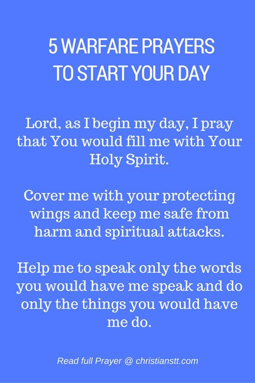 These prayers will put you in the right frame of mind and prepare you for your day. Choose one and pray it in the morning before you even get out of bed, or as you enjoy your breakfast and you'll be prepared for whatever comes your way.