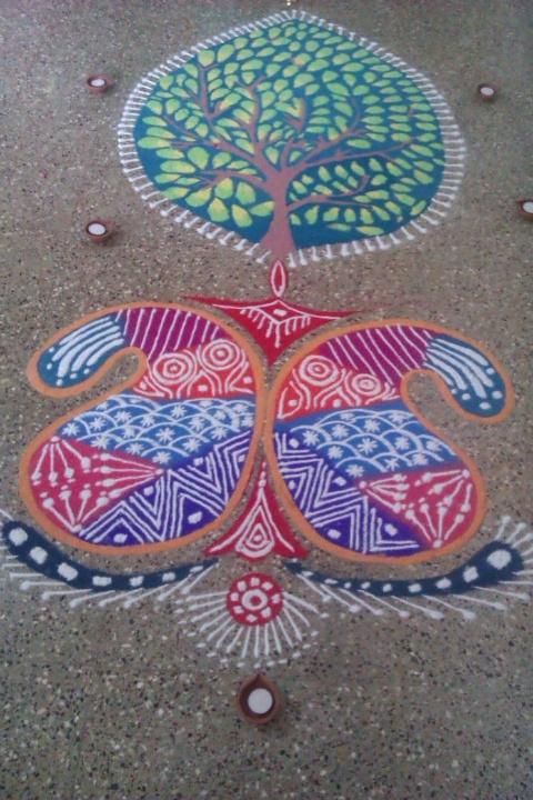 Entry by Pratheeksha(1) #Diwali #Rangoli