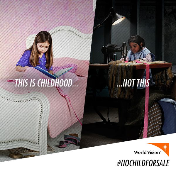 Comfort can come at a really high cost.  Fight child slavery at http://ow.ly/wKZas #NoChildForSale