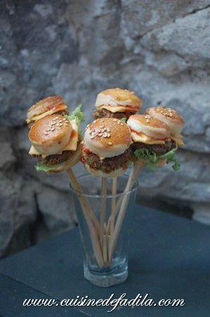 Mini burger pops:) @ Jennifer Poe