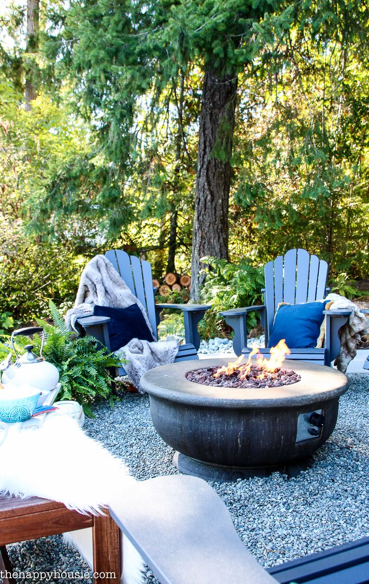 Pea Gravel Fire Pit Patio Reveal