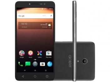 "Smartphone Alcatel A3 XL 16GB Cinza Dual Chip - 4G Câm. 8MP + Frontal 5MP 6"" HD Proc. Quad Core"