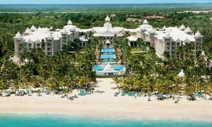 Groupon - ✈ 4, 6, or 7 Night Hotel Riu Palace Punta Cana Trip with Nonstop Airfare. Price per Person Based on Double Occupancy. in Punta Cana, Dominican Republic. Groupon deal price: $599