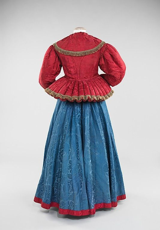 Jacket  1840–80  Russian  silk, metal, cotton