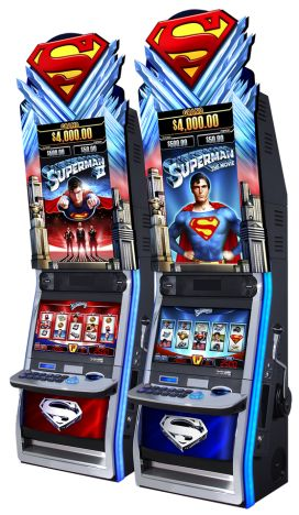 Aristocrat's Superman The Movie is a 5 reel, 25 line, video stepper slot, available in penny, 2 cent and nickel denominations. The minimum bet is 50 credits and a maximum bet of 250, which covers all pay lines and the 25 credit ante bet, making you eligible for all bonus events.