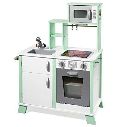 "howa Spielküche / Kinderküche ""Chefkoch"" aus Holz mit LED-Kochfeld 48203"