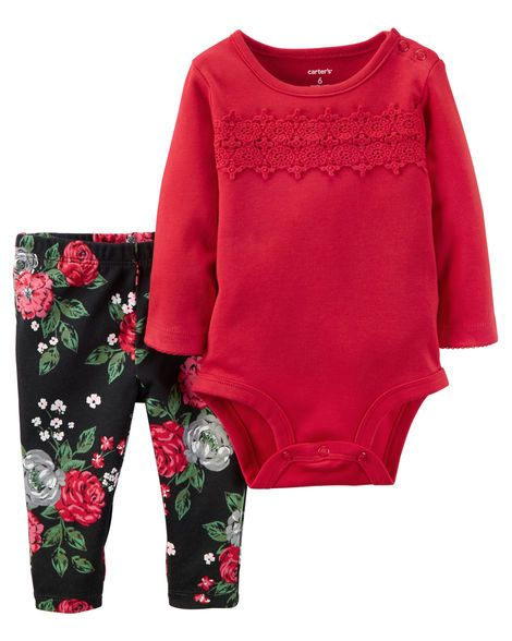 2-Piece Bodysuit & Pant Set from Carters.com. Shop clothing & accessories from a trusted name in kids, toddlers, and baby clothes.