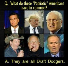 16 best Hypocritical Warmongers Who Dodged The Draft images on ...