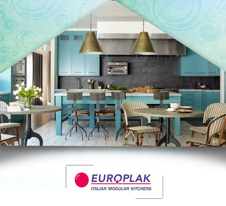 Blue can be used in a variety of styles, ranging from cool modern to bright retro.  For more details Visit : http://www.europlak.in/ #EuroplakIndia #ModularKitchen