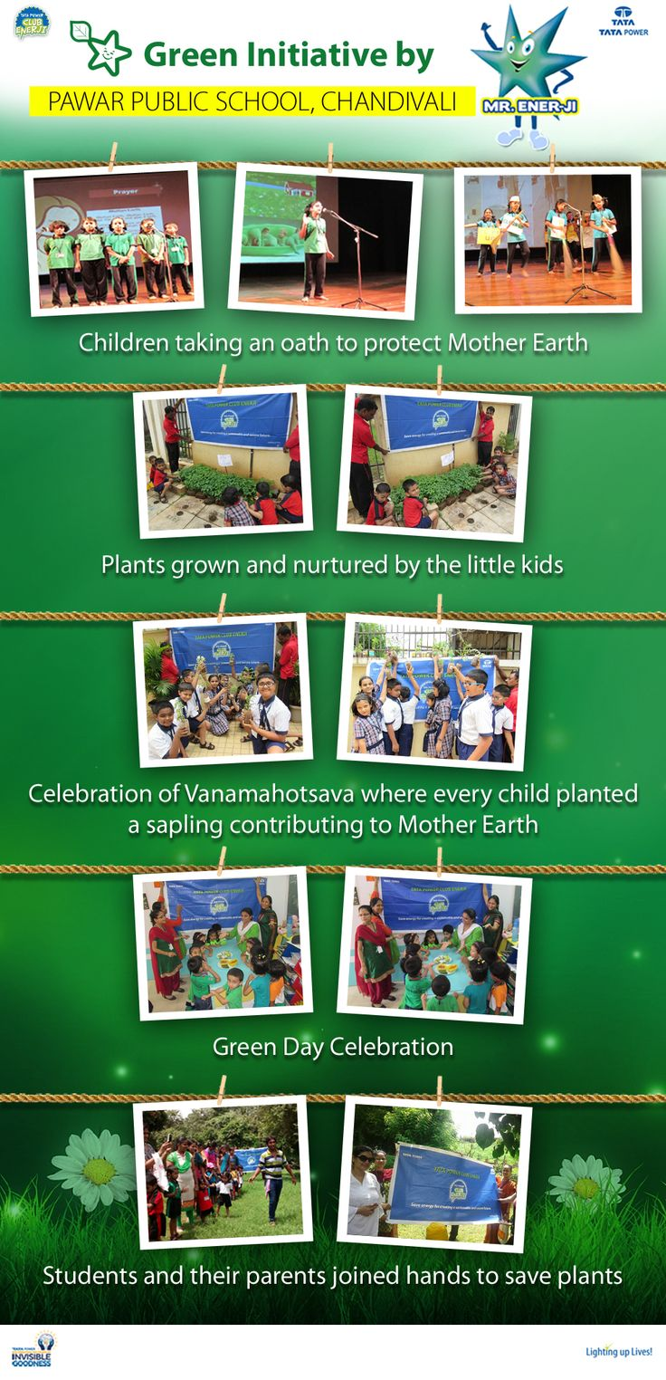 Green Initiative by Club Enerji & Pawar Public School, Chandivali   Club Enerji, has relentlessly been working towards spreading the message of energy conservation across the country. In line with this commitment, club enerji organised green initiative with Pawar Public School, Chandivali in Mumbai, and felicitated the best performing schools of the year for successfully conducting various Club Enerji Programmes.