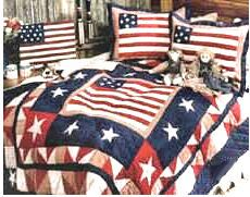 patriotic american flag bedding set comforter quilt red white and blue