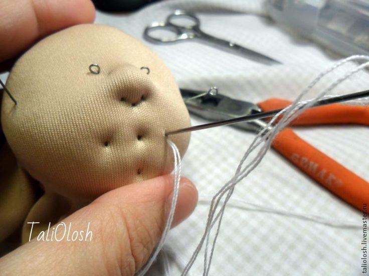 Создание объемной текстильной кукольной головки. Часть 3 - Ярмарка Мастеров - ручная работа, handmade