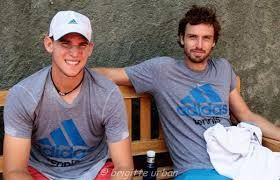 dominic thiem et ernst gulbis - the latter has strenghend his game mentally to the point where he is a positive influence on the burgeoning career of Thiem