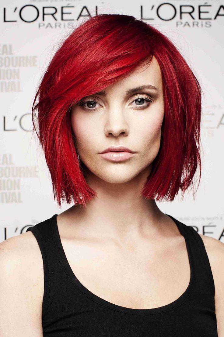 Les 25 meilleures id es de la cat gorie cheveux de feu sur - Coloration rouge vif ...