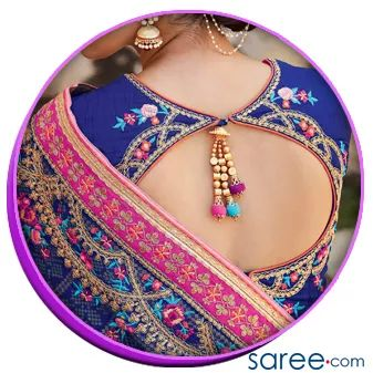 Image 4 - Back Window Design With Back Buttons01 - Trendy Saree Blouse Back Designs - saree.com