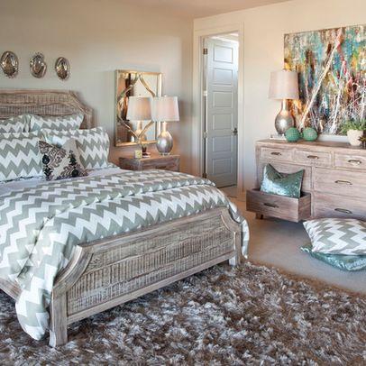 Gray cheveron Bedroom Ideas | Chevron Fabric Design Ideas, Pictures,  Remodel, and Decor