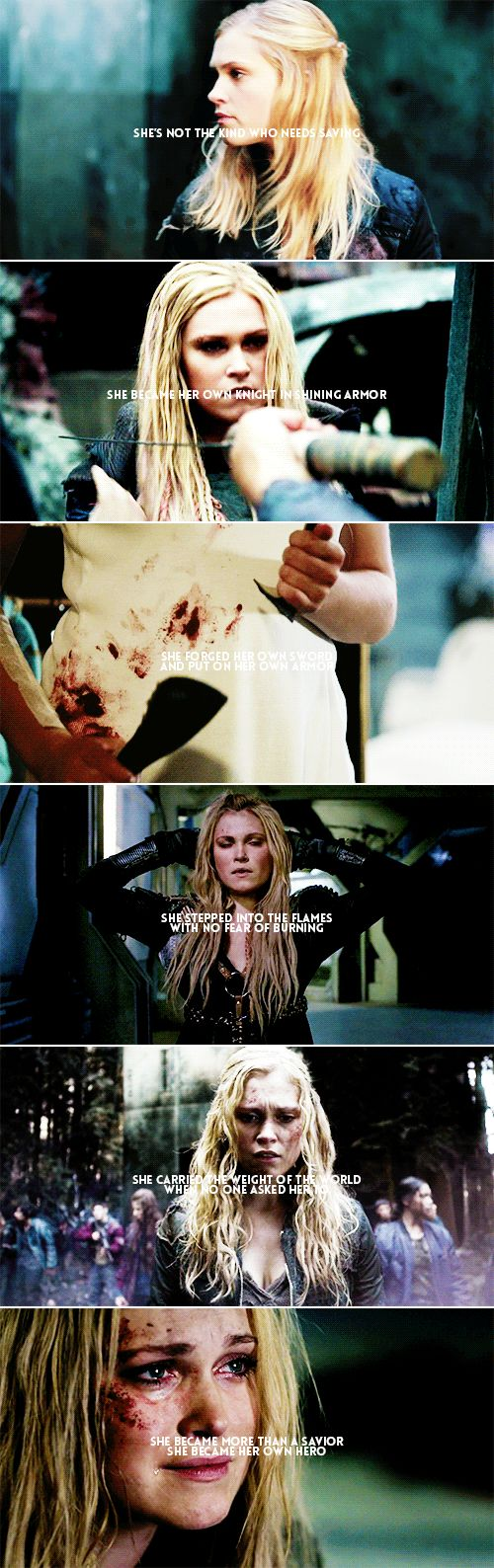 Clarke: — and you know heroes make the best legends // k.s. #the100