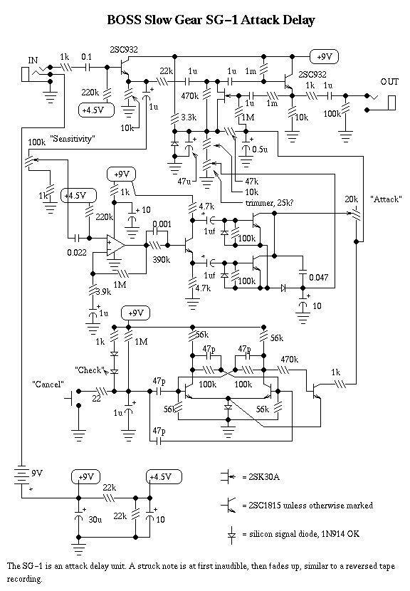 guitar effect circuits