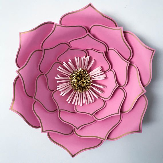 Giant paper flower from The Crafty Sagittarius Etsy