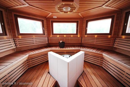 Rounded sauna / kaareva sauna