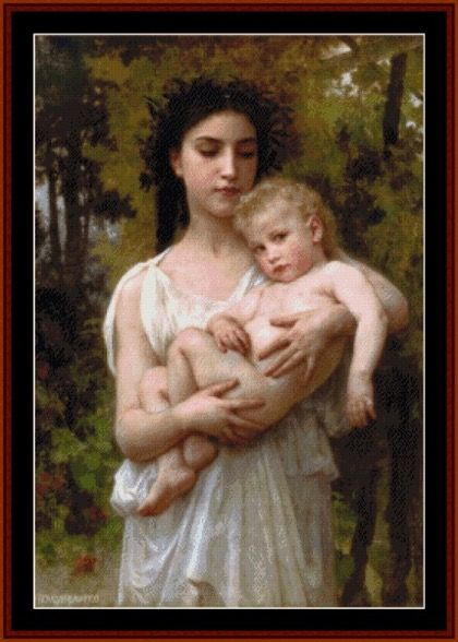 Bouguereau - The Younger Brother, 1900