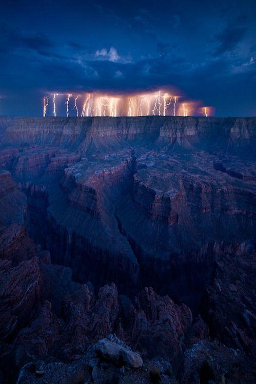 lightning storm, Grand Canyon