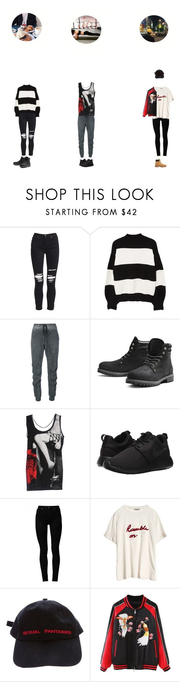 """""""[Marlin] Solo Vlog"""" by gonzales-family ❤ liked on Polyvore featuring AMIRI, MANGO, Lost & Found, Jack & Jones, Miu Miu, NIKE, Cheap Monday, Vetements, WithChic and Timberland"""