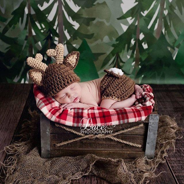8 besten Crochet Deer Photo Props Bilder auf Pinterest   Babytiere ...