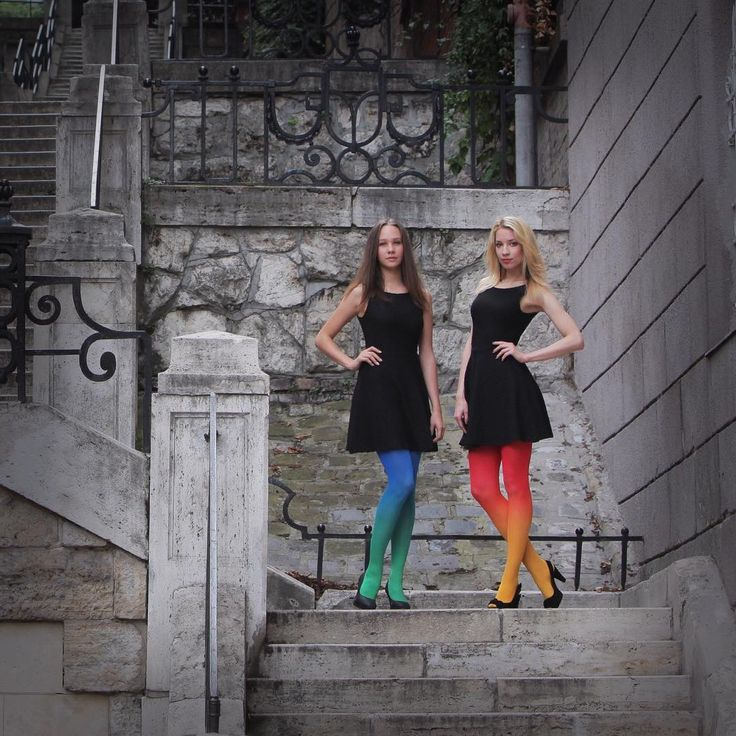 Ombre tights in many colors by Virivee! ;)