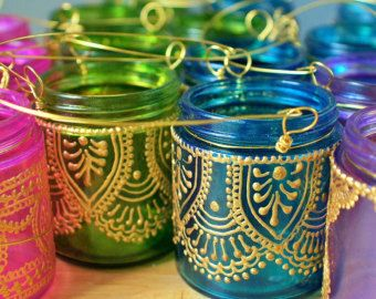 Linterna marroquí colgante vaso Portavelas con vidrio por LITdecor                                                                                                                                                                                 Más