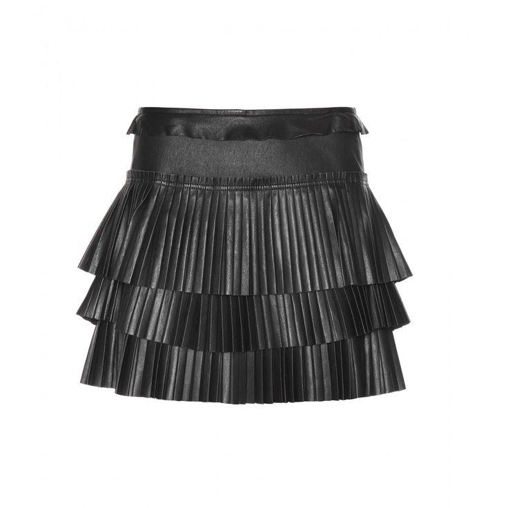 Jeneth Pleated Leather Miniskirt * 000876 ∇ mytheresa