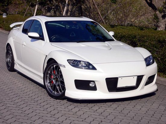 Mazda RX-8. It does matter if is white, just look at it, its awesome car!