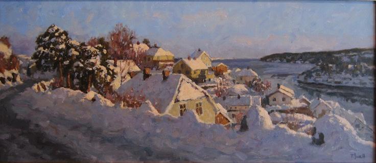 Tore Juell (1942-): Lav vintersol - Høyåsen