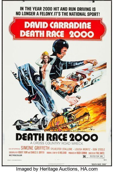 "Movie Posters:Science Fiction, Death Race 2000 (New World, 1975). One Sheet (27"" ..."