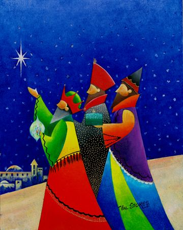 """Three Wise Men"" by Val Stokes"