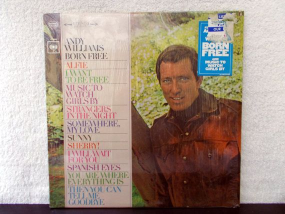Andy Williams Born Free. 1967 Columbia Records vinyl LP. AbqArtistry,