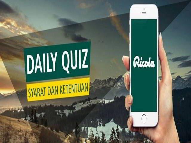 Kuis Ricola Daily Quiz Periode Juli-Sep Berhadiah iPhone 6 - Hai sobat MisterKuis! Mister ingin berbagi kuis online berhadiah iPhone 6. Periode ...