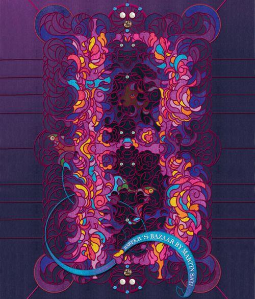 Harper's Bazaar. Martin Sati.Http Www Martinsati Com, Bazaars Httpwwwmartinsaticom, Graphics Art, Capitals Types Logo Letteing, Harpers Bazaars, Illustration, Graphics Design, Capitals Typelogolett, Martin Satie