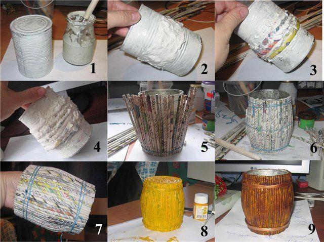 Barril de papel reciclado  -  Recycled paper barrel del chavo del ocho