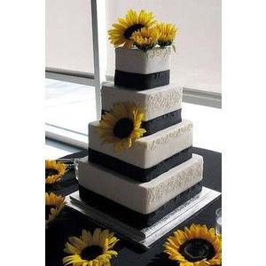 yellow sunflower cake | ... cake winter wonderland wedding cake in whimsical topsy turvy cakes