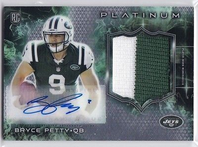 cool BRYCE PETTY 2015 TOPPS PLATINUM CHROME ROOKIE RC AUTO PATCH 2CLR JETS ! - For Sale