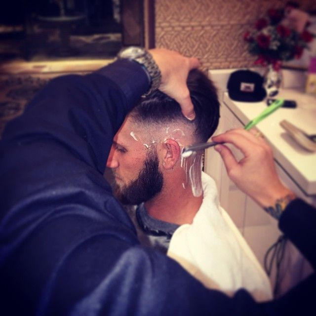 cool 20 Awesome Bryce Harper's Haircuts - Legendary Inspiration Check more at http://machohairstyles.com/best-bryce-harper-haircuts/