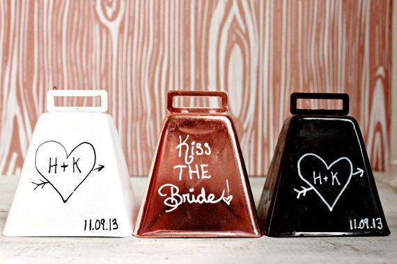 Wedding Kissing Bell Cow Bell Custom Wedding by boaboowedding, $12.00