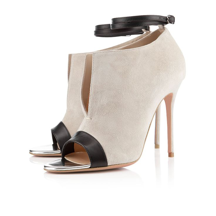 Name: Salome Beige Ankle Strap Boots Price: $74.99
